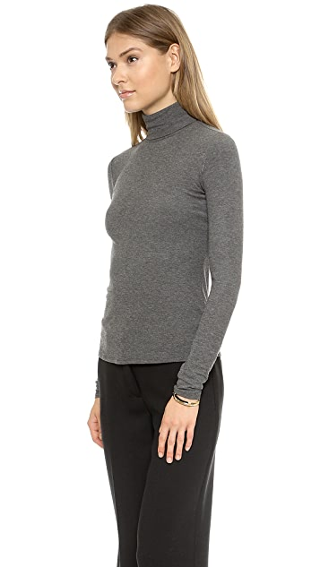 Theory Ribbed Viscose Nuri Turtleneck