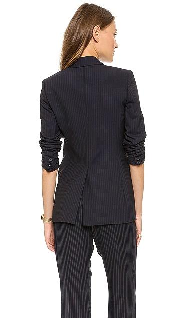 Theory Pinstripe Suit Hiram Blazer