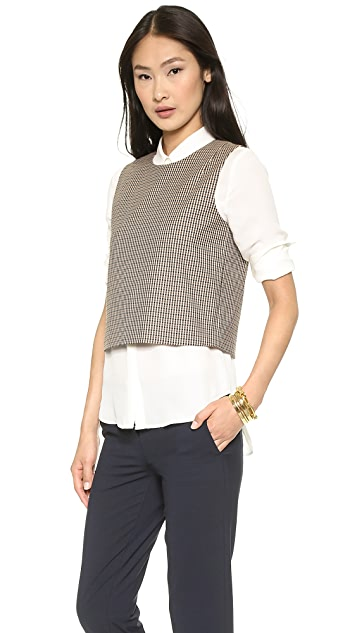 Theory Intrigued Focha Crop Top
