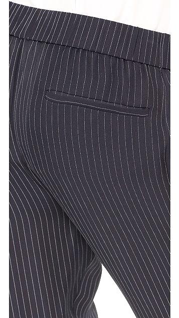 Theory Pinstripe Silk Korene Pants
