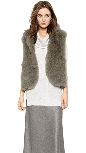 Theory Georgian Hanalee Fur Vest