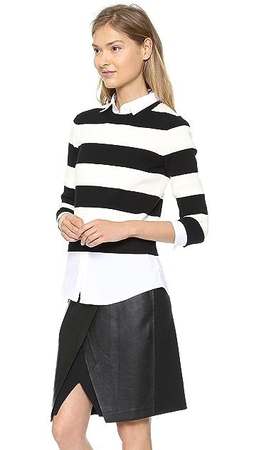 Theory Prosecco S Hartmona Cropped Sweater