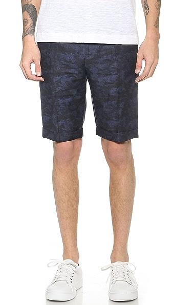 Theory Muller S Subtle Gladiolus Shorts