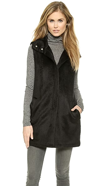 Theory Visterna Faux Fur Vest