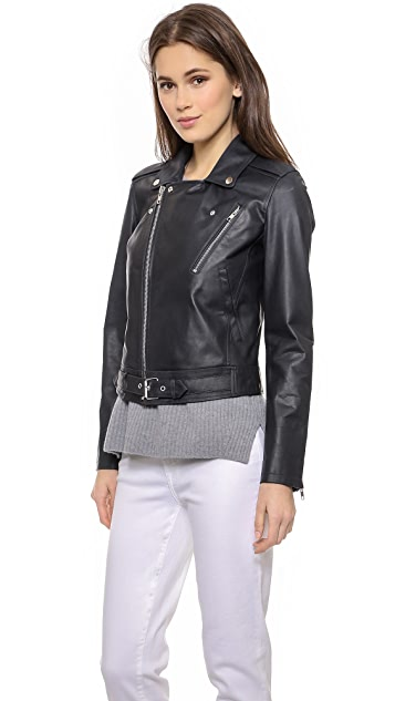 Theory Speed Leather Sahral Jacket