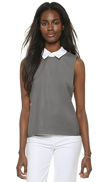 Theory Classy Audressa Shirt with Optional Collar