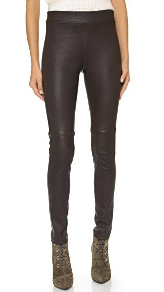 Theory Axiom Adbelle L Leather Leggings