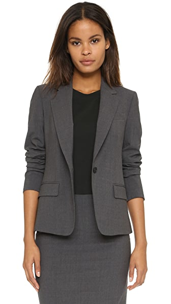 Theory Edition Four Gabe N Blazer - Charcoal