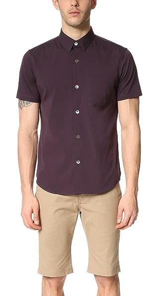 Theory Rammis Ostend Short Sleeve Shirt