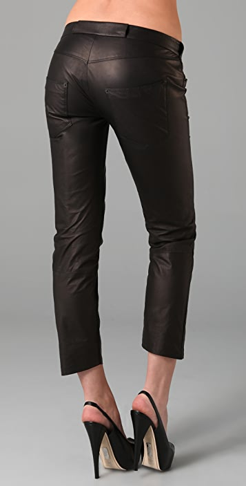 Theyskens' Theory Patch Leather Pants