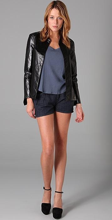 Theyskens' Theory Nabi Leather Jacket