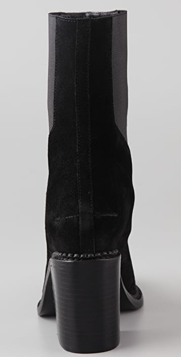 Theyskens' Theory Taylor Suede High Heel Booties
