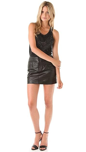 Theyskens' Theory Safaa Nibet Leather Skirt