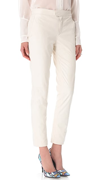 Theyskens' Theory Palmaster Leather Pants