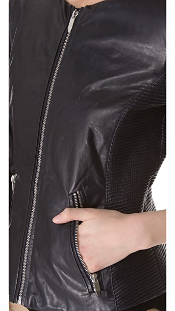 Theyskens' Theory Jadra Nolfora Leather Jacket