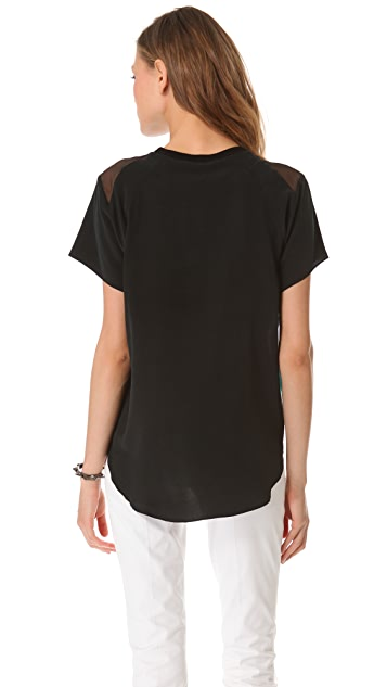 Theyskens' Theory Ballah Isobek Silk Top
