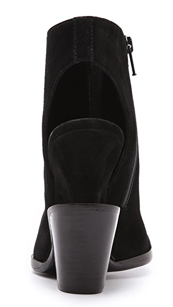 Theyskens' Theory Apro Suede Booties with Metal Detail