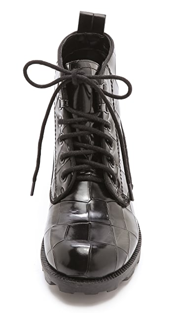 Theyskens' Theory Yasmin Embossed Combat Booties