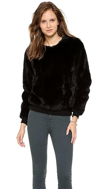 Theyskens' Theory Binga Fur Sweater