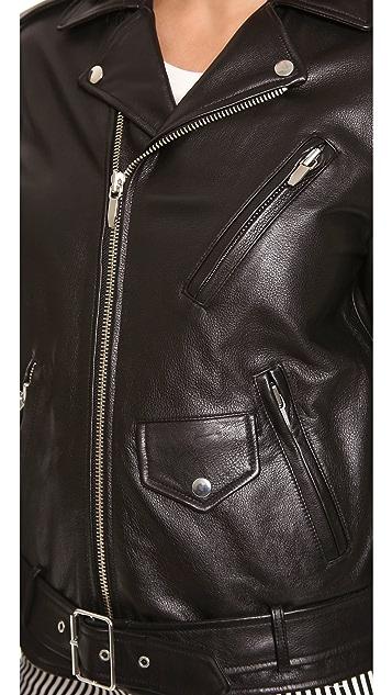 Theyskens' Theory Nidge Jace Oversized Moto Jacket