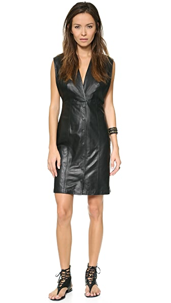 Theyskens' Theory Nixer Dustin Leather Dress