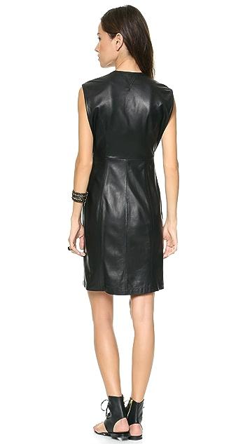 Theyskens' Theory Nixer Dustin Leather Dress