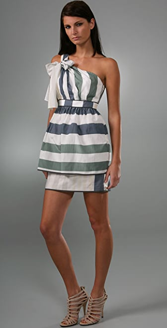 Thread Social Stripe One Shoulder Dress