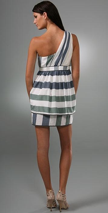 Thread Social Stripe One Shoulder Dress