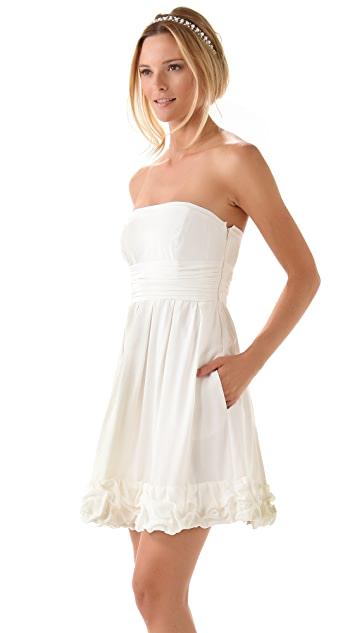 Thread Michelle Strapless Dress with Rosettes