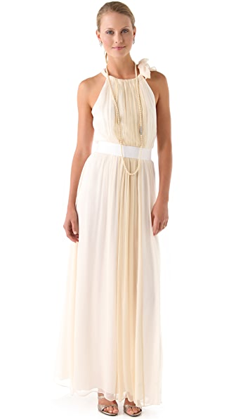 Thread Eleanor Halter Gown with Grosgrain Belt