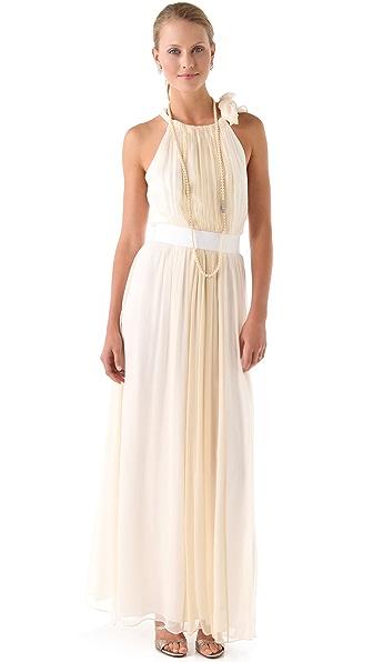 Thread Eleanor Halter Gown with Grosgrain Belt