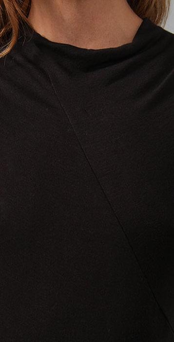 Three Dots Long Sleeve Draped Top