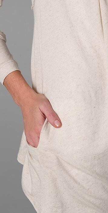 Three Dots Long Sleeve Draped Cardigan