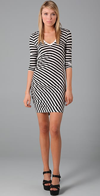 Three Dots V Neck Dress