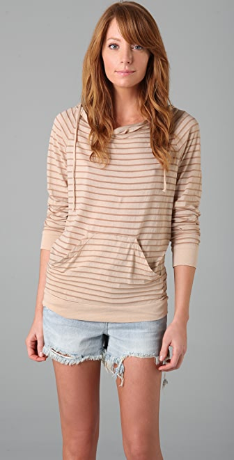 Three Dots Mini Stripe Hoodie