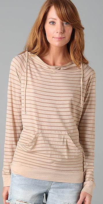 Three Dots Mini Stripe Hoodie