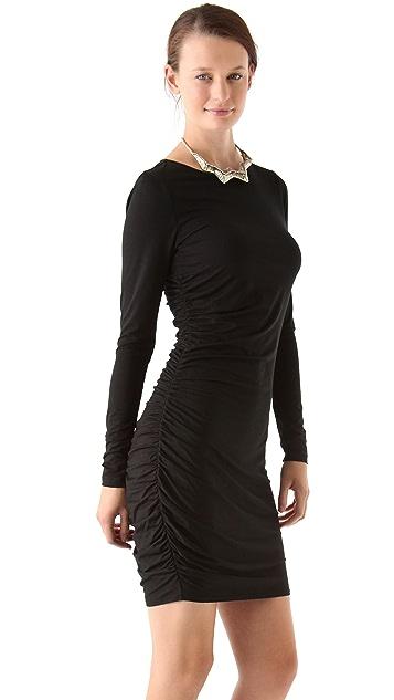 Three Dots Shirred Tunic Dress