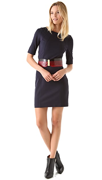 Three Dots Seamed Shift Dress