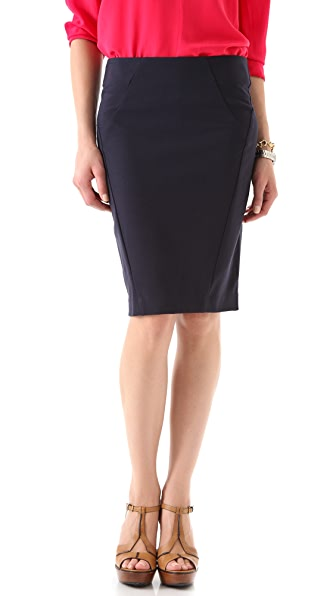 Three Dots Ponte Midi Skirt