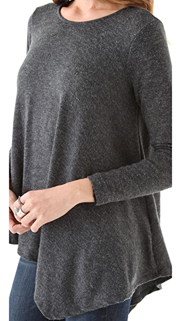 Three Dots Asymmetrical Sweater