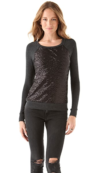 Three Dots Sequined Sweatshirt