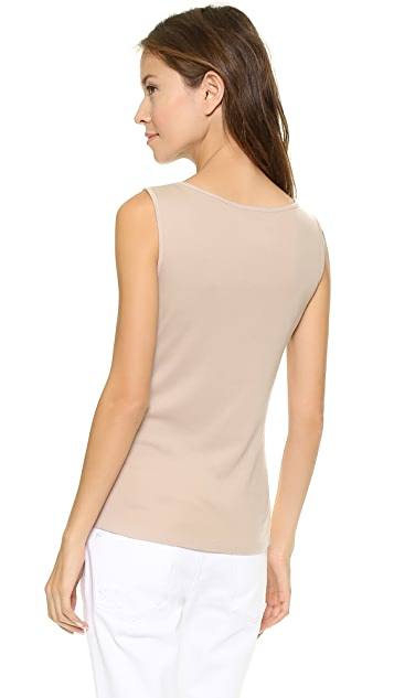 Three Dots Sleeveless Boat Neck Top