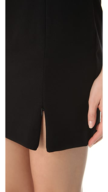 Three Dots Zip Miniskirt
