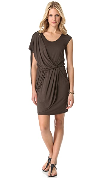 Three Dots Side Drape Dress