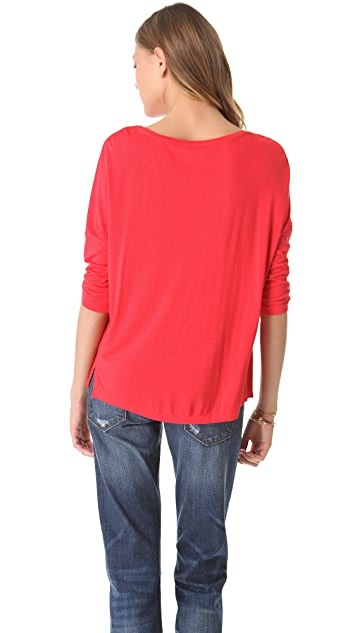 Three Dots Dropped Sleeve Top