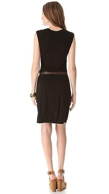 Three Dots V Neck Shift Dress