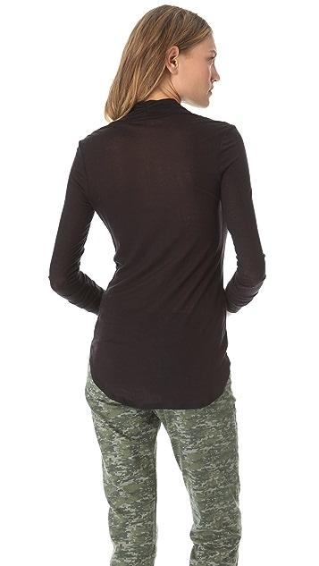 Three Dots Cowl Shirttail Top