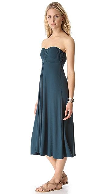 Three Dots Shirred Maxi Skirt / Dress