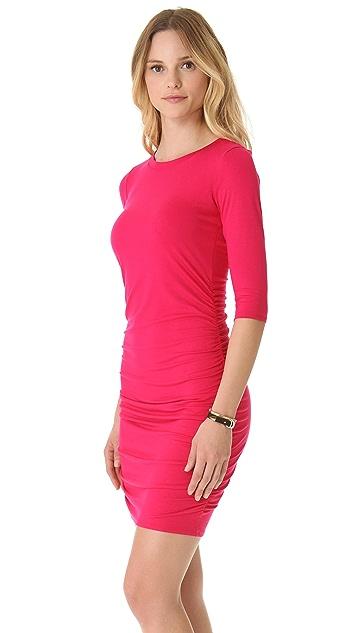Three Dots Minnie Mortimer Shirred Dress