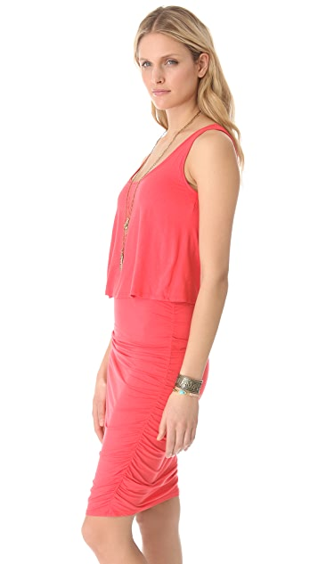 Three Dots Two Layer Tank Dress